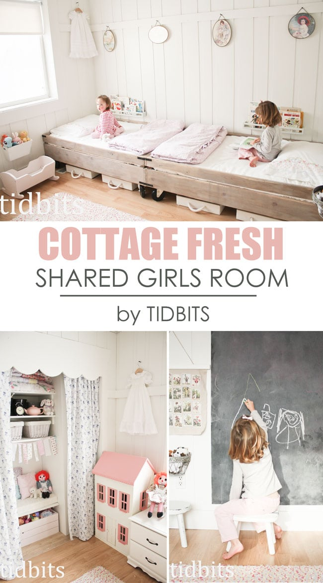 Shared Girls Room, Cottage Style by TIDBITS