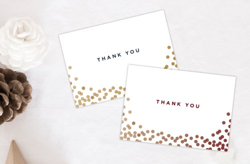 Medium Of Christmas Thank You Cards