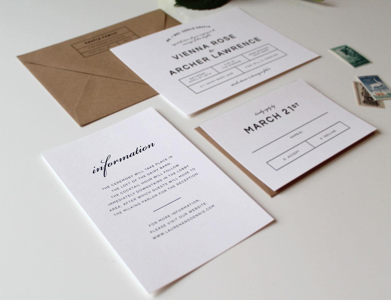 portfolio bold modern wedding invitation suite wedding invitation suites Wedding Invitations Charlotte