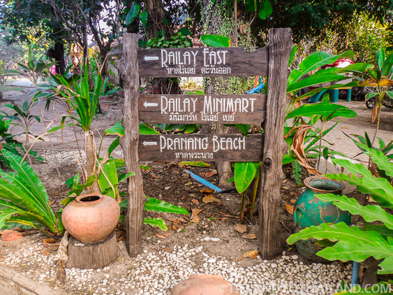 Entrance to Railay's walking paths