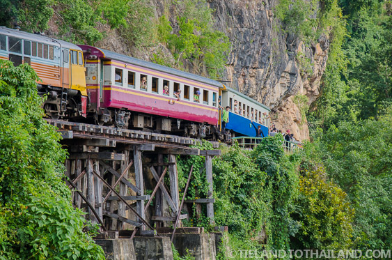 Train along the Death Railway