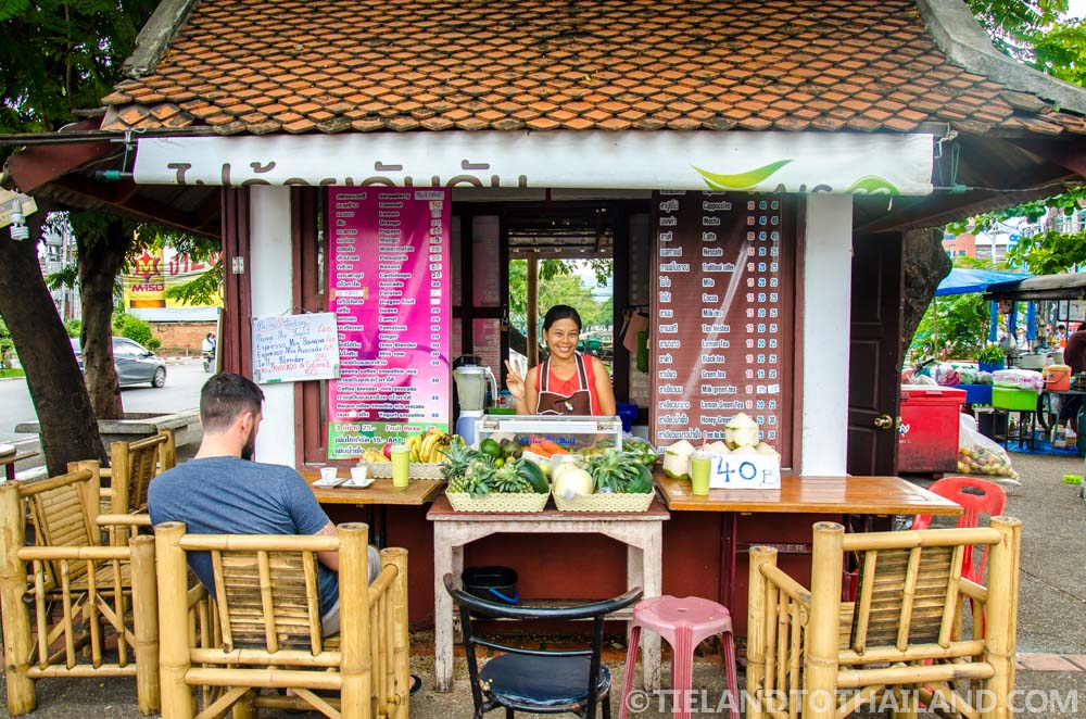 "Smoothies at ""Coffee Build"", located at the Chiang Mai Gate Street Stalls"