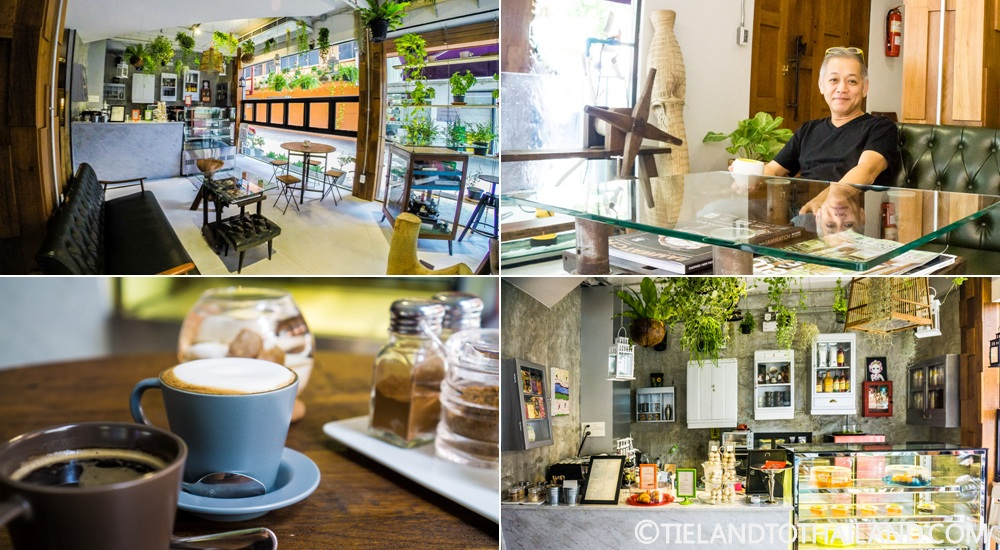 Coffee with the co-owner at The House of Phraya Jasaen