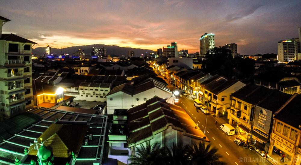 George Town skyline in Penang, Malaysia