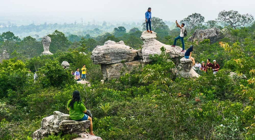 Pokemon Go at Pa Hin Ngam National Park in Chaiyaphum, Thailand