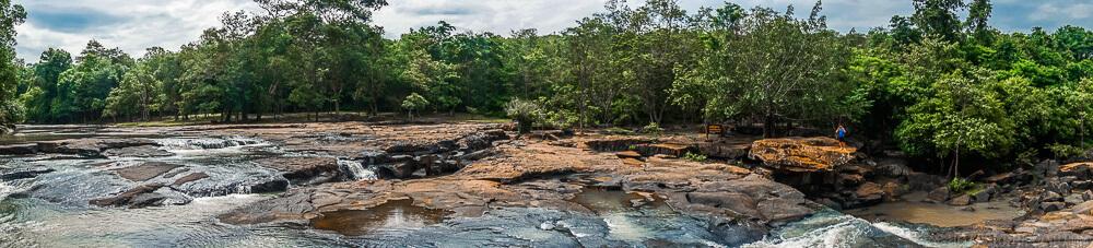 Tatton Waterfall Tat Ton National Park in Chaiyaphum, Thailand
