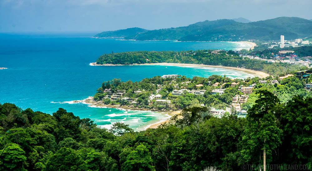 Karon Viewpoint overlooking Kata Noi, Kata Yai, and Karon Beaches
