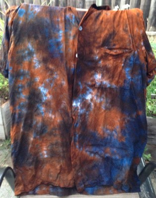 blue and orange shirt front