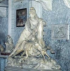 Estatua de Mitra en los museos del Vaticano