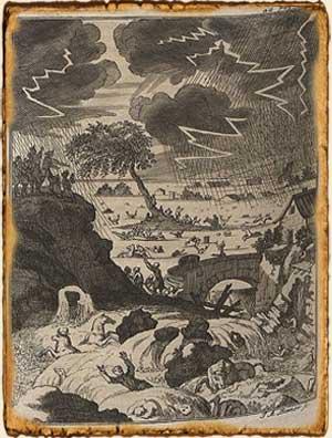Mitología Japonesa - Tormenta del dios del trueno Aji-Suki