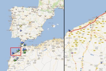 Rabat – Mohammedia (comer) – El Jadida. (191Km)