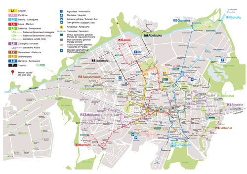 Red de transporte público de Vitoria