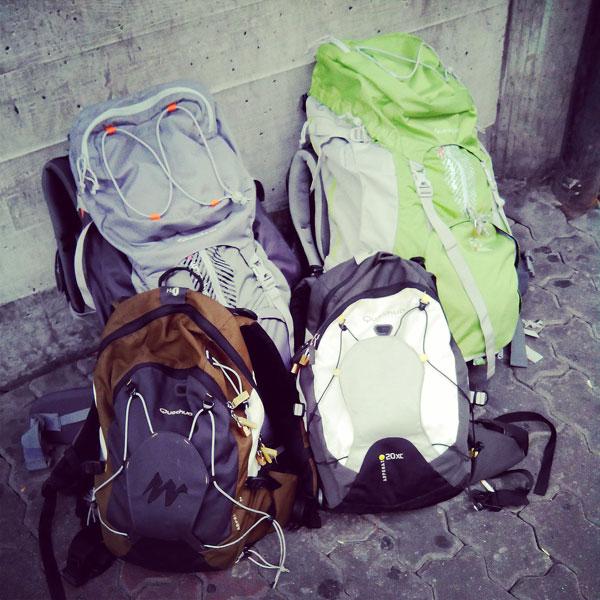 qué llevamos en nuestras mochilas