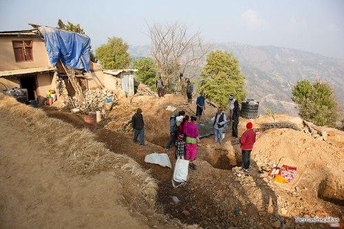 el terremoto los dejo sin casas
