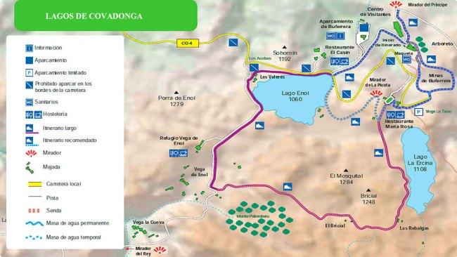mapa lagos de covadonga