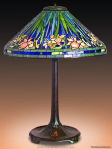 Tifliany Studios Daffodil Table Lamp. 20'' Est. $30,000-40,000 Tiffany Antique Lamps and Lighting