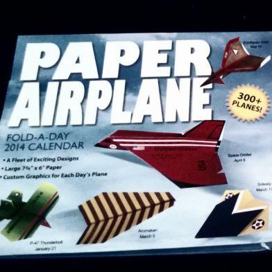 2014 paper airplane calendar