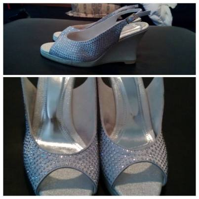 $225 SILVER & WHITE WEDGE