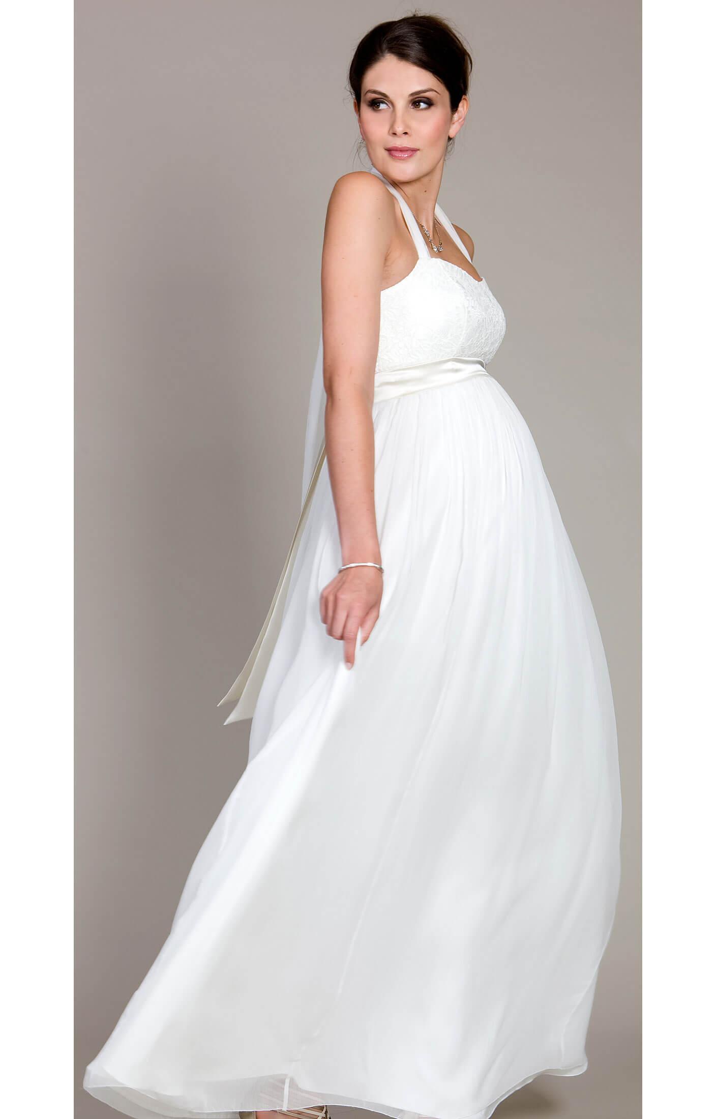 Alya Lace Maternity Wedding Dress (Long) maternity dresses for wedding Alya Lace Maternity Wedding Dress Long by Tiffany Rose