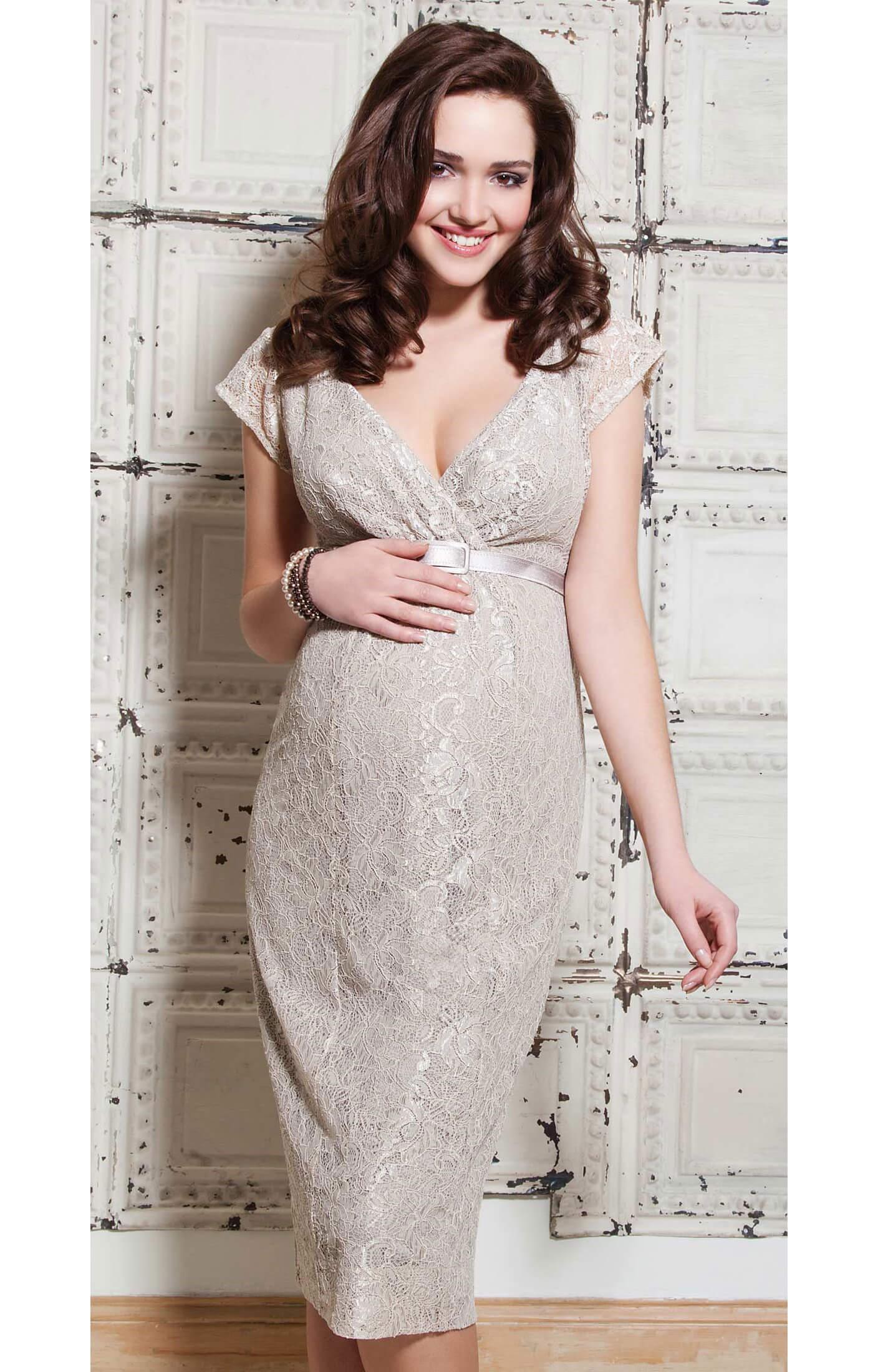Evelyn Maternity Dress (Champagne Beige) beige wedding dress Evelyn Maternity Dress Champagne Beige by Tiffany Rose