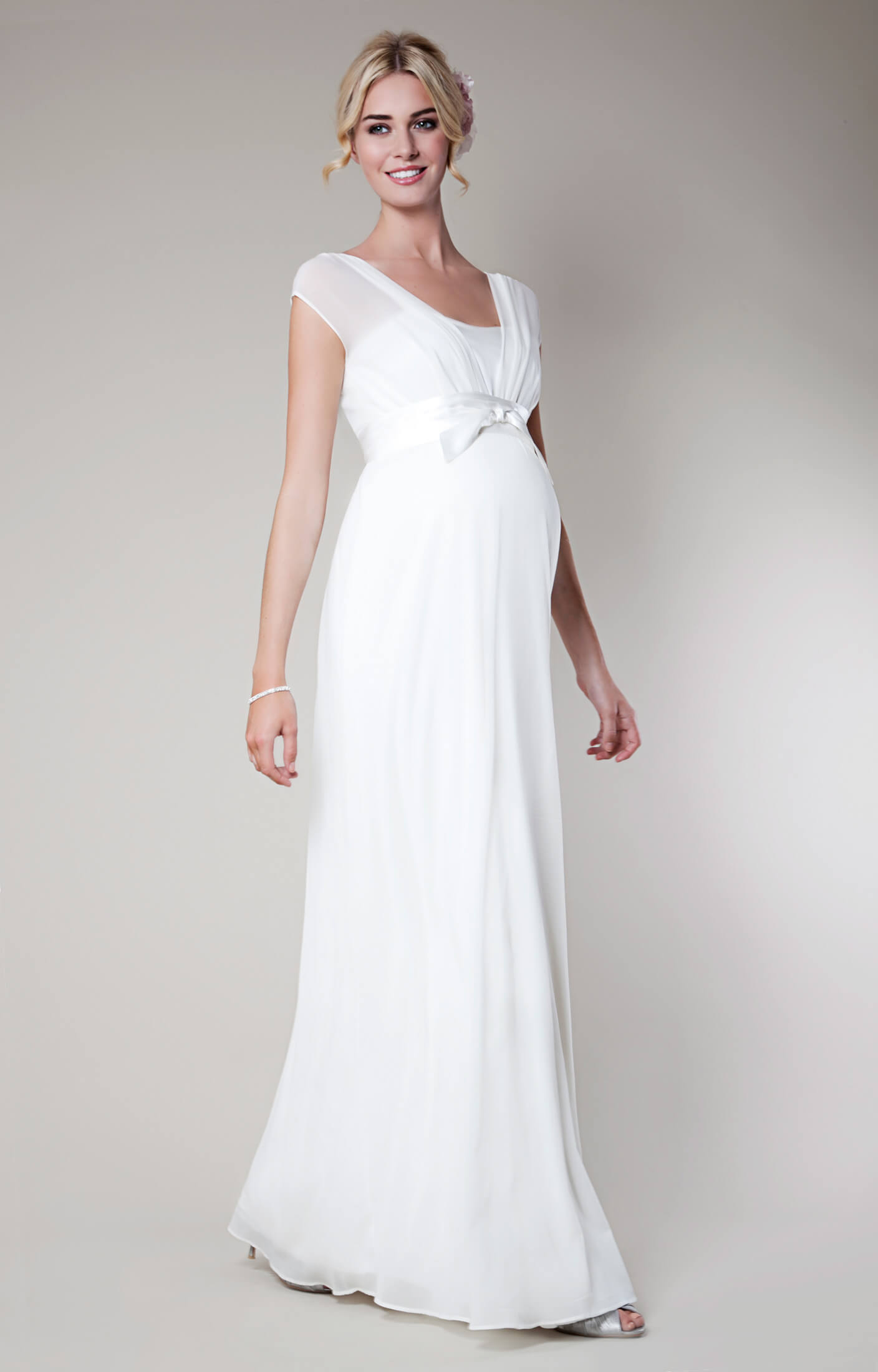 Lily Silk Maternity Wedding Gown Long (Ivory) silk wedding dresses Lily Silk Maternity Wedding Gown Long Ivory by Tiffany Rose