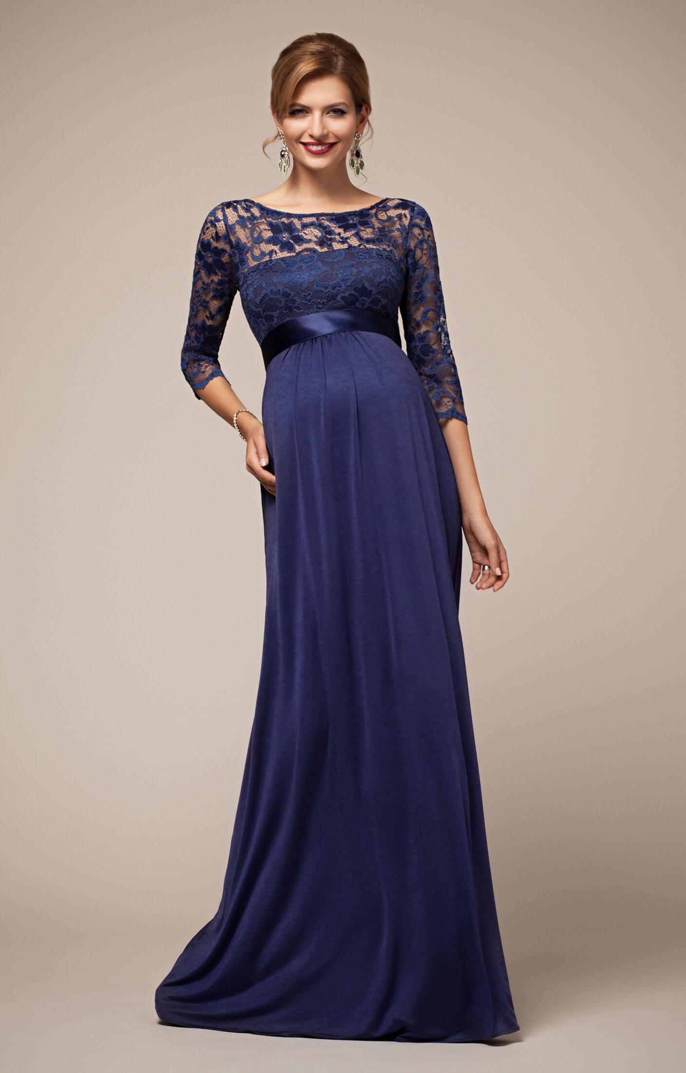 Lucia Maternity Gown Windsor Blue wedding dresses with blue Lucia Maternity Gown Windsor Blue by Tiffany Rose