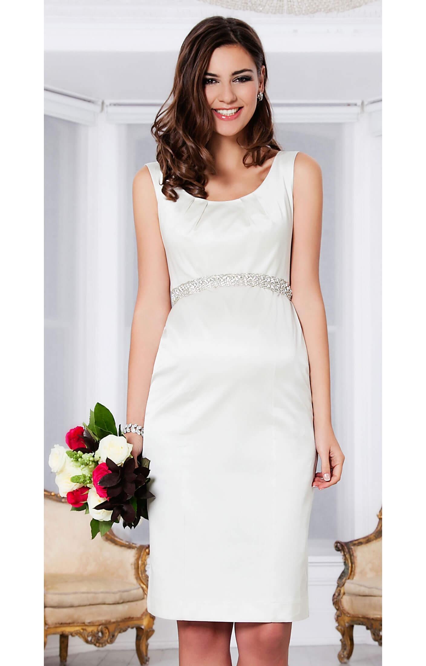 Oria Shift Maternity Dress (Pearl Ivory) ivory wedding dress Oria Shift Maternity Dress Pearl Ivory by Tiffany Rose