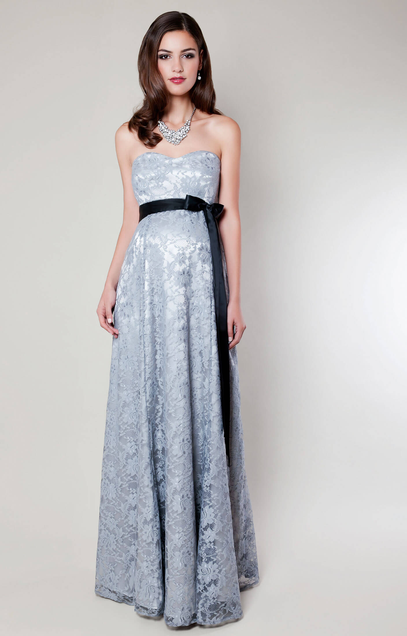 Olivia Maternity Gown (Silver Mist) silver wedding dresses Olivia Maternity Gown Silver Mist by Tiffany Rose