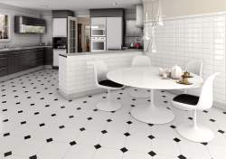 Small Of Black And White Floor Tile
