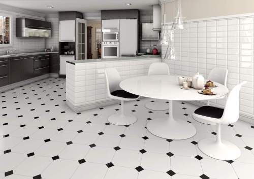 Medium Of Black And White Floor Tile