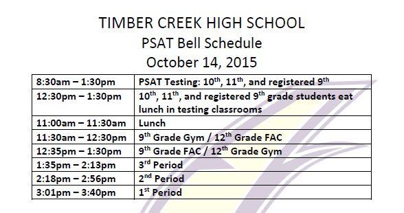 PSAT Bell Schedule 01