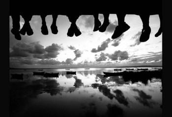 feet on dock