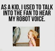 Record Childhood Memories - Talking into the Fan