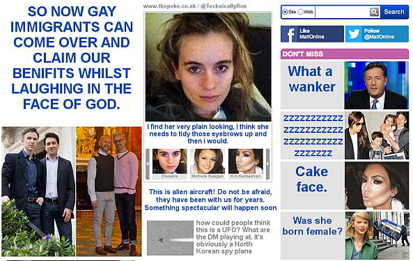 Daily Mail Headlines Replaced By User Comments-comments