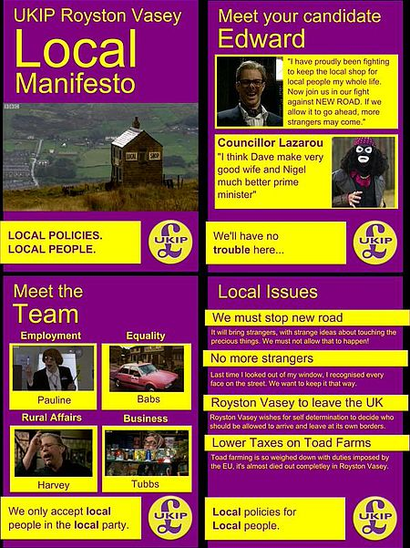 UKIP Royston Valley Election Leaflet