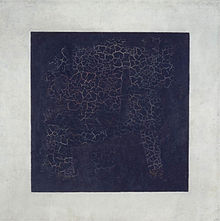 Kazimir Malevich, Black Square, 1915, 79.5 x 79.5 cm, oil on canvas, Tretyakov Gallery, Moscow.
