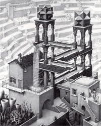 Redefining hierarchy: Escher's waterfall