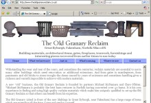 Old Grannary Reclaim, Website Design, Norfolk and Kings Lynn