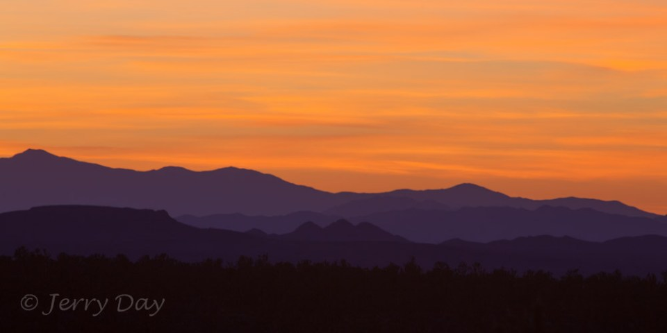 Sunset Over Distant Mojave Hills