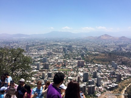 Blick von Cerro San Cristobal auf die Stadt