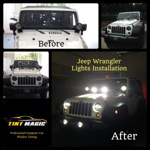 Jeep Wrangler Lights Installation-Tint Magic Window Tint Coral Springs