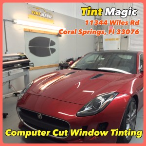 Jaguar F Type at Tint Magic Window Tinting Coral Springs Fl