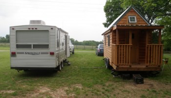 Largest Tiny House tiny homes on wheels custom largest house Tiny House Vs Camping Trailer