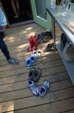 Shoes off in the tiny house!