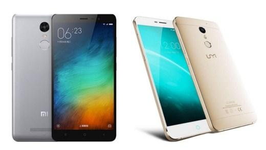 Le XIAOMI Redmi Note 3 Pro et UMI Super 4G en promo