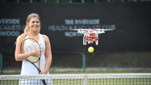 TENNIS : Virgin Active lance un drone pour améliorer votre service