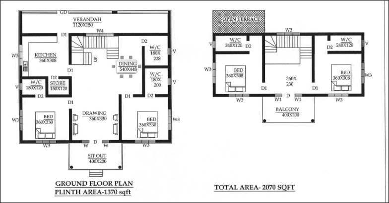 1850 Square Feet 4 Bedroom Double Floor Kerala Style Gypsum Panel Home Design And Plan