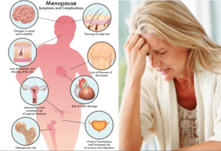 vervroegde overgang symptomen