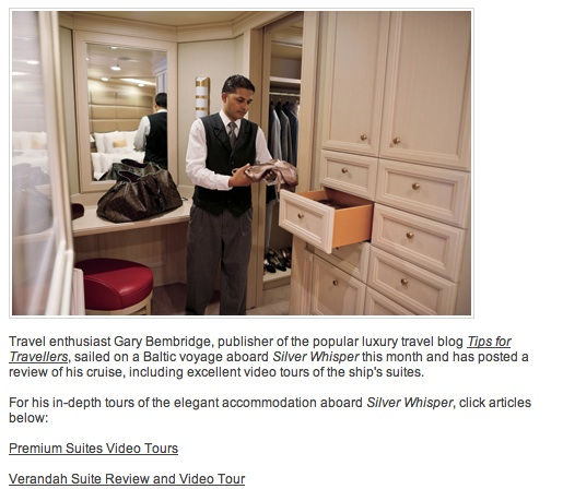 Silversea Suites Tips for Travellers