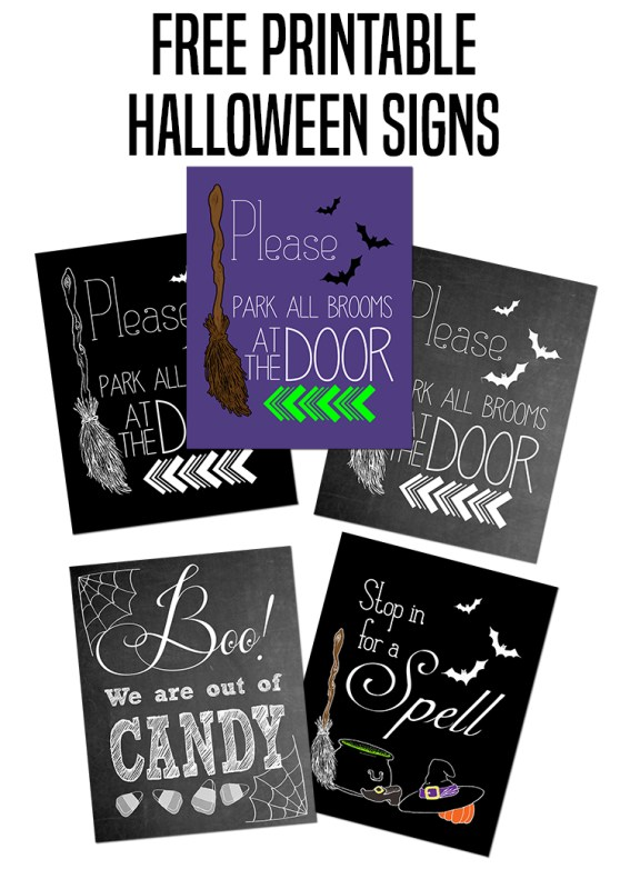 Please Park All Brooms at the Door Halloween Printable